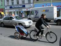 Customer cycling in Berlin-Neukölln